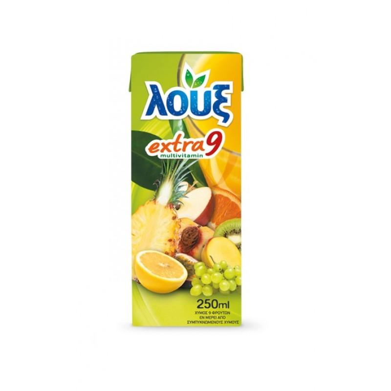 Λουξ χυμός extra9  250ml Αναψυκτικά