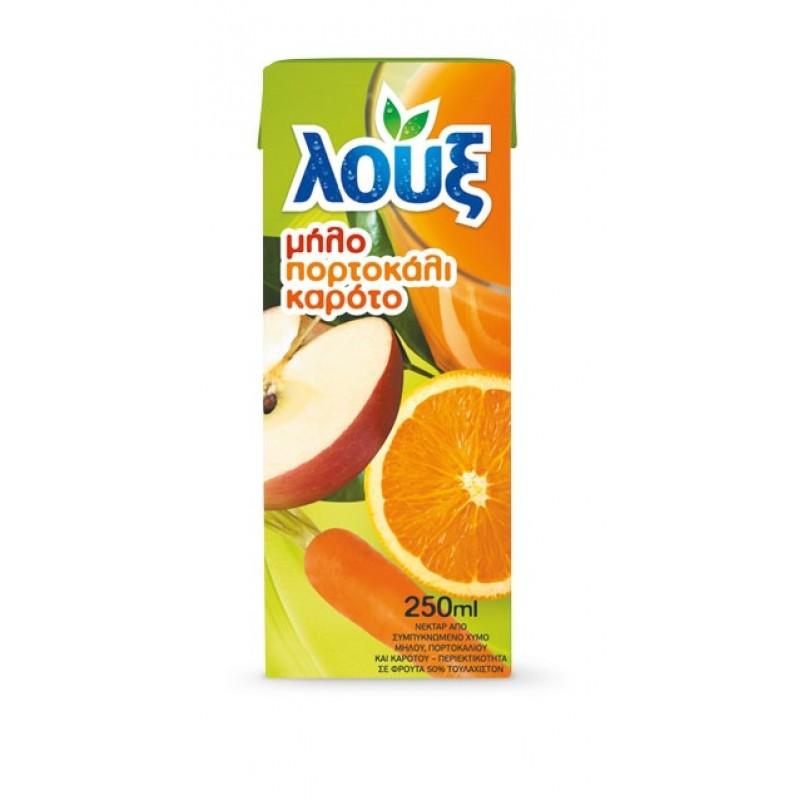 Χυμός λουξ Μήλο-Πορτοκάλι-Καρότο Αναψυκτικά